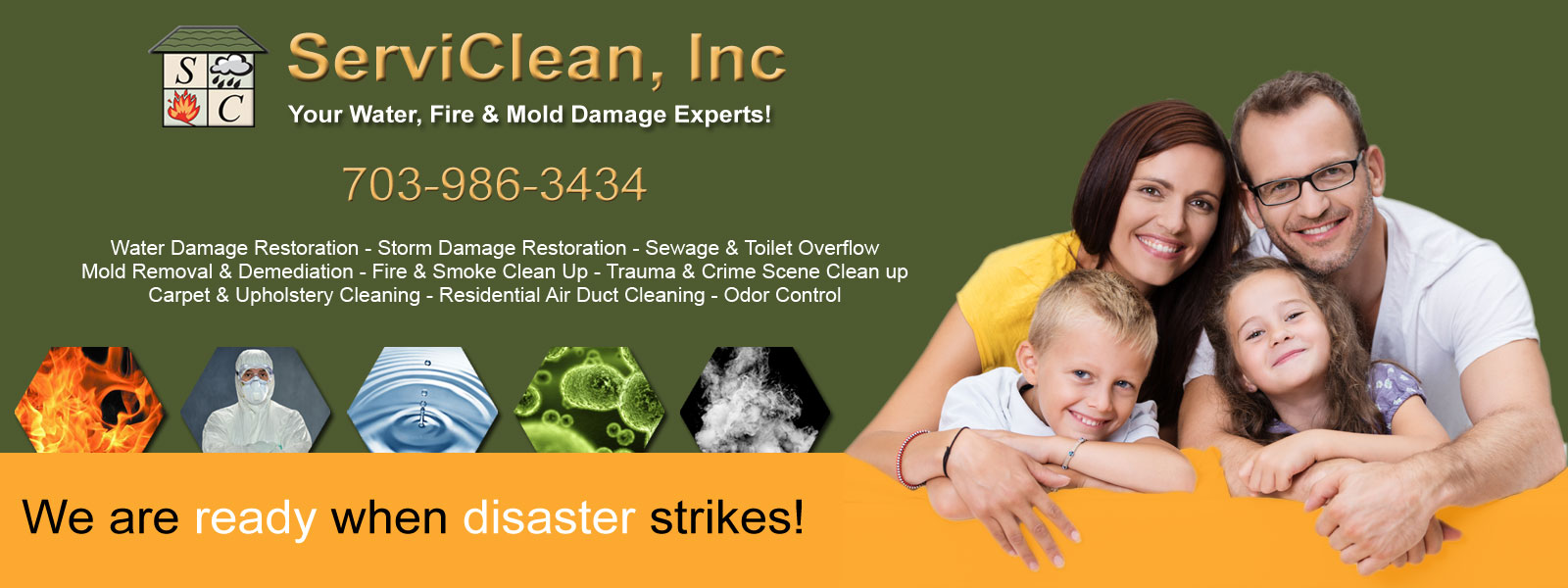 Serviclean Inc Water Damage Restoration Water